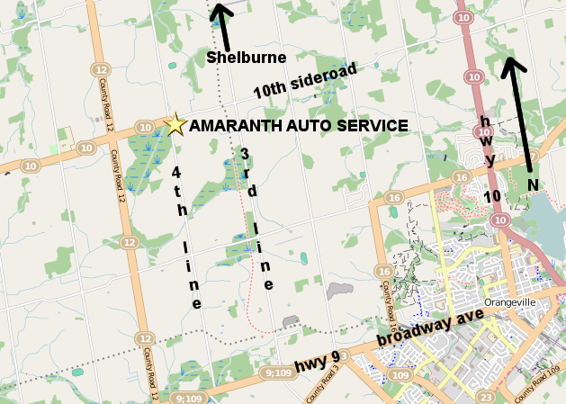 map to amaranth auto service